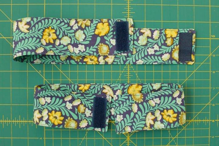 Test lay loop velcro on tiebacks before sewing