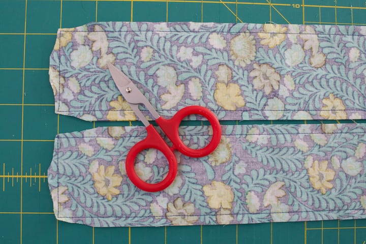 trimming excess seam allowance from corners