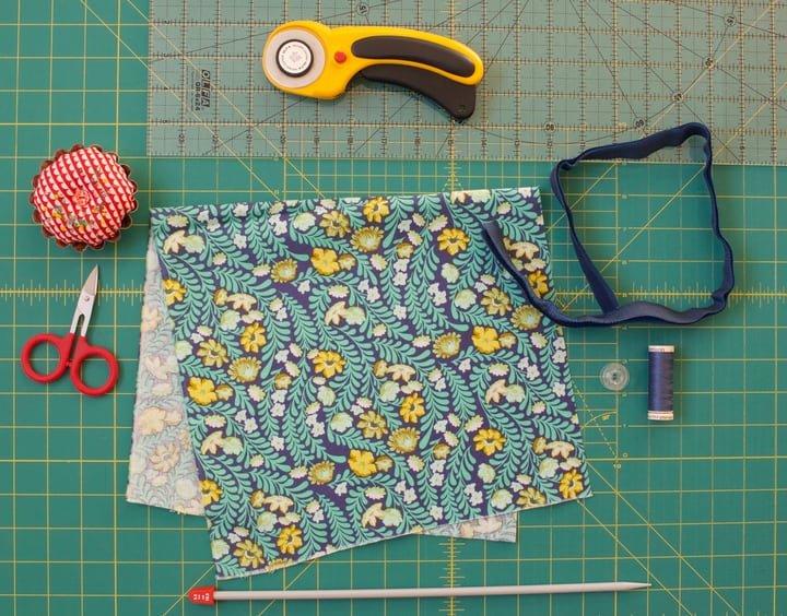 materials needed to sew curtain tiebacks