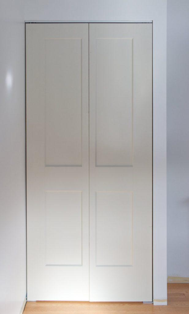 Test fit of bifold double doors