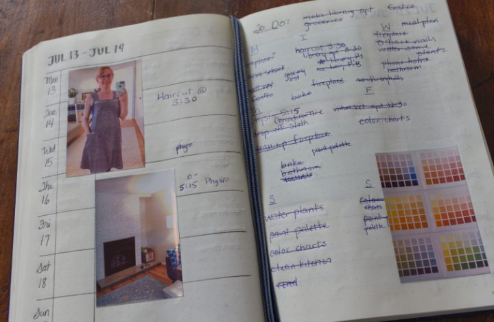 Sprocket photos to document crafts on journal pages