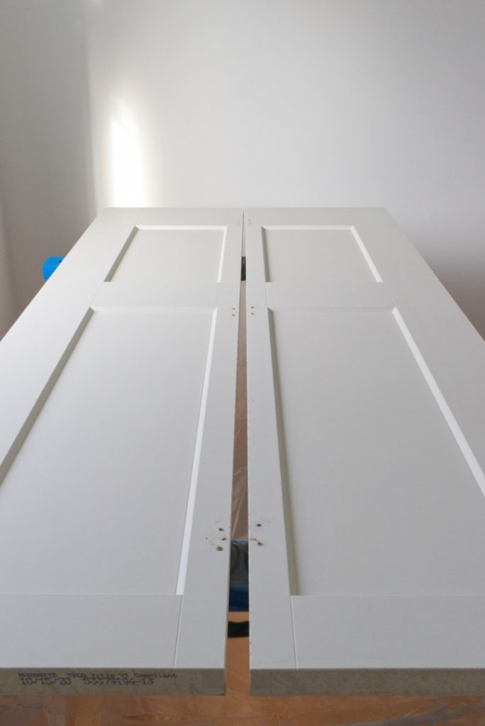 Bifold laying down with hinges removed