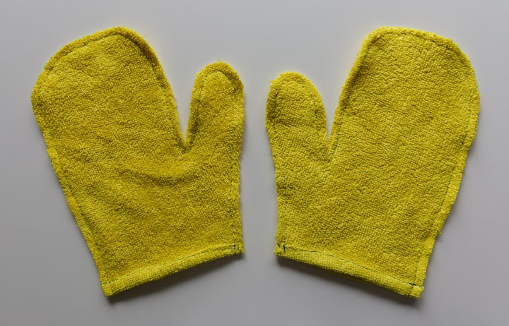 """Gloves have been stitched with a 1/4"""" seam allowance"""