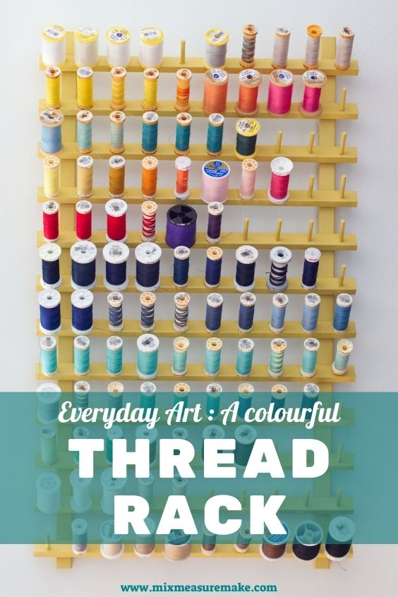 Painted thread rack Pinterest pin