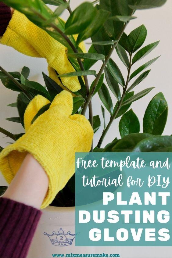 DIY plant dusting gloves Pinterest pin