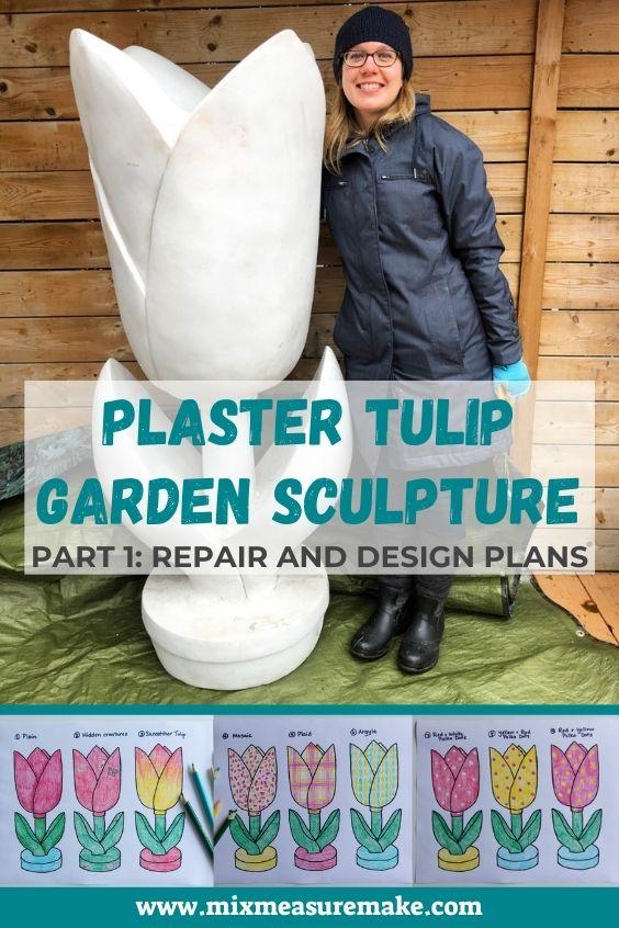 Tulip Garden Sculpture Pinterest Graphic